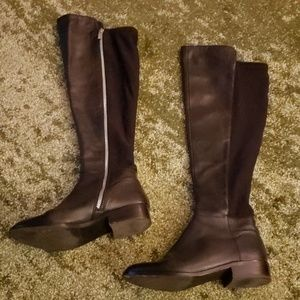 Michael Kors Black Leather Riding Boots